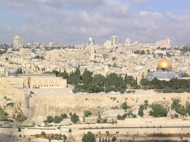 Jerusalem from Mt. of Olives LR