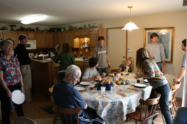 Thanksgiving feast 2008 11