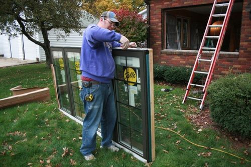 Prepping the front window 102209 LR