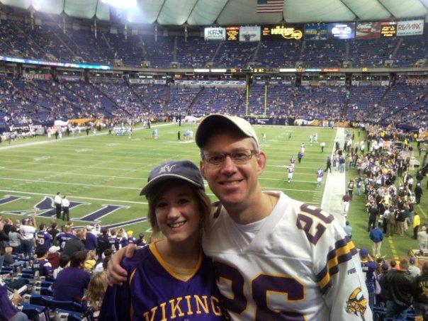 Tom & Madison at Vikings game 111509